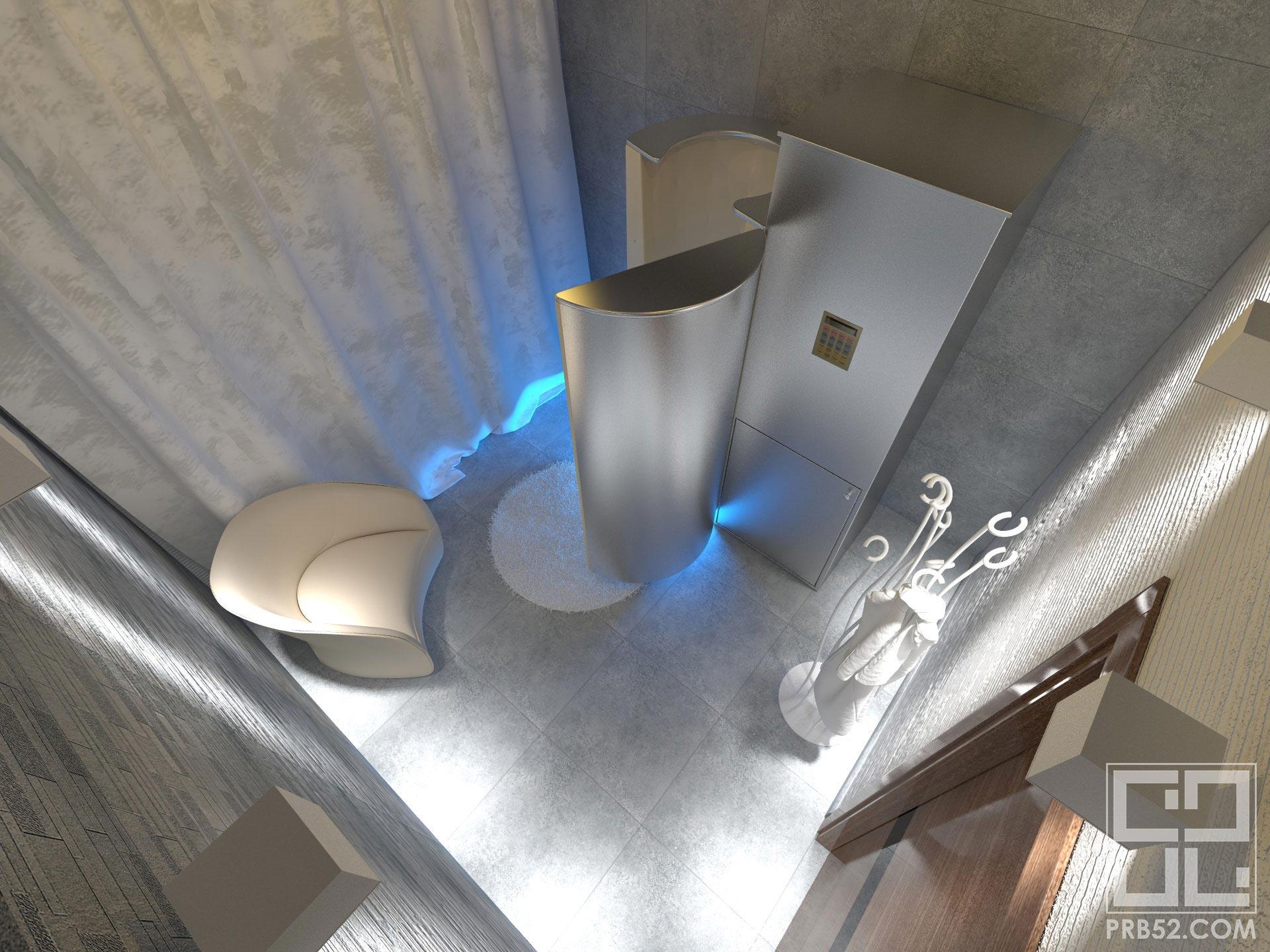дизайн интерьера салона красоты криосауна