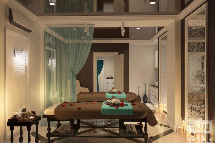 дизайн интерьера салона красоты массажный кабинет