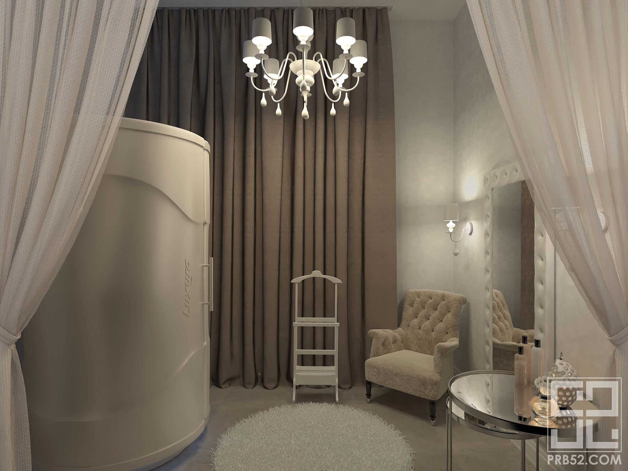 дизайн интерьера салона красоты солярий