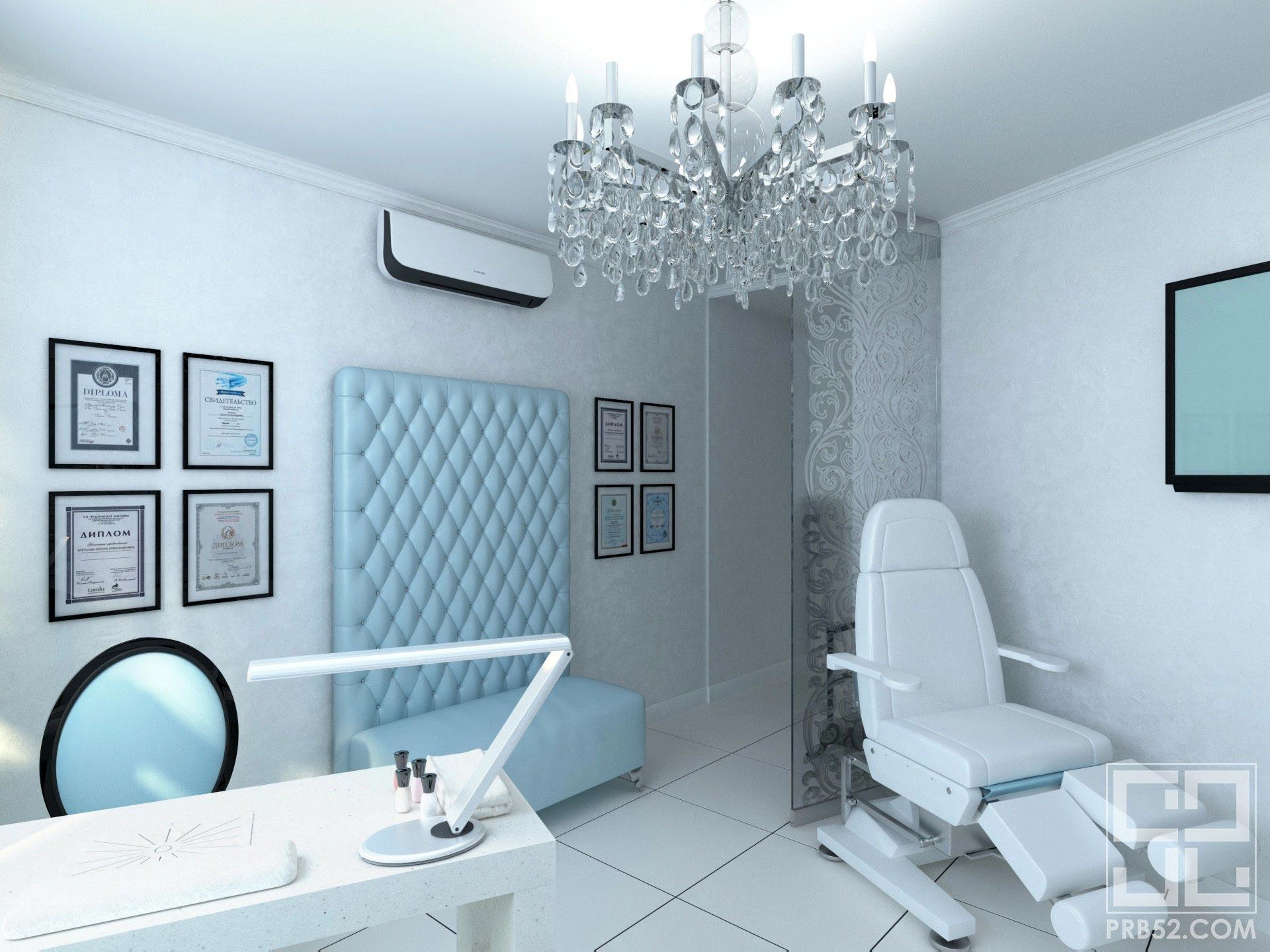 дизайн интерьера салона красоты маникюрный кабинет