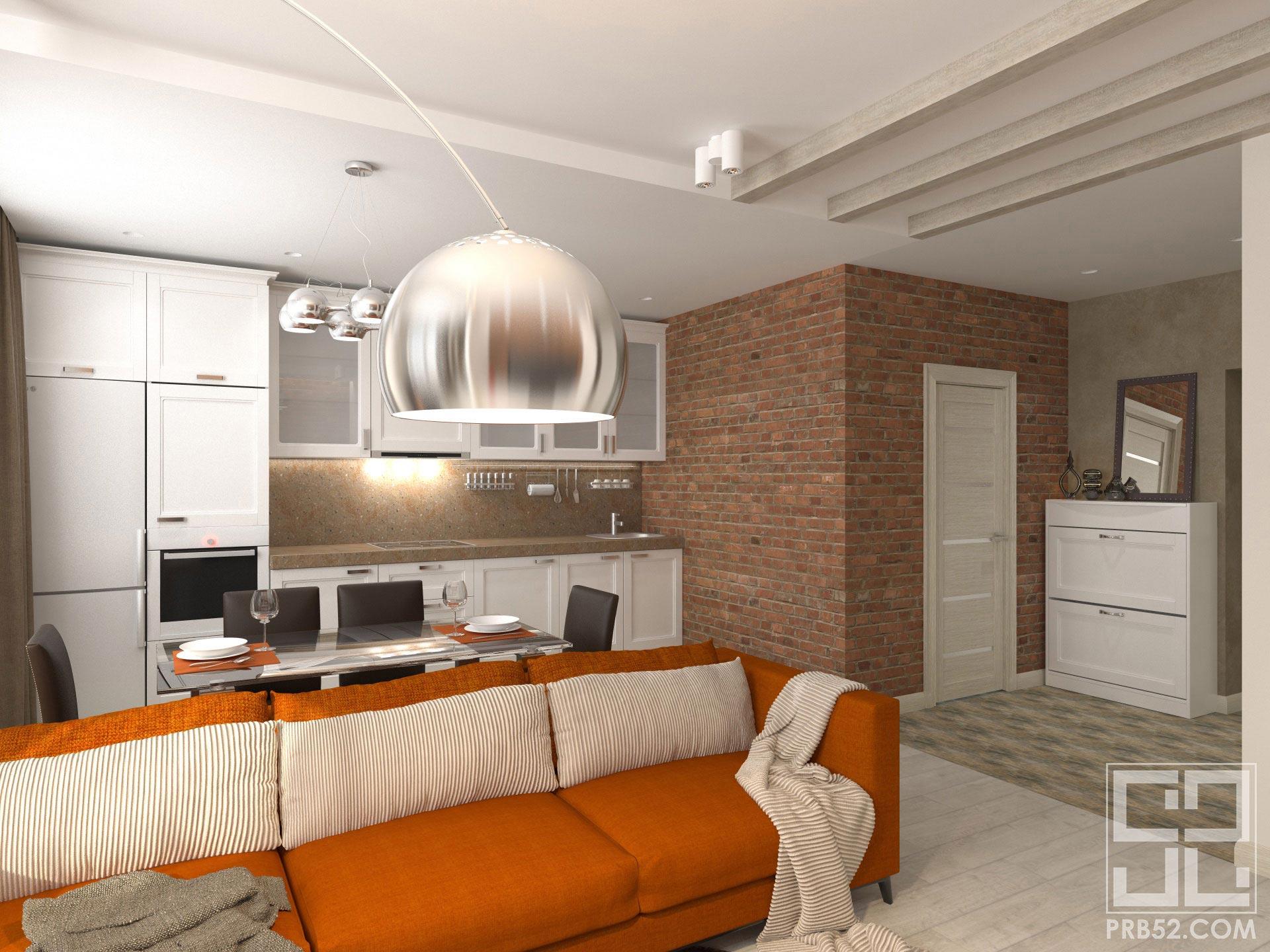 дизайн интерьера кухня объединенная с гостиной