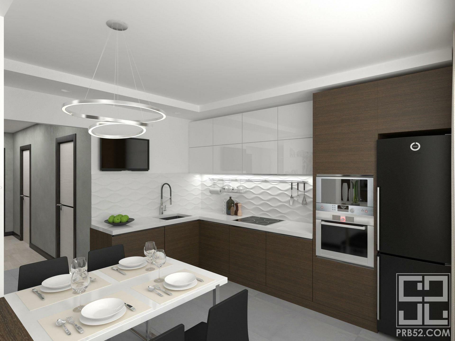 дизайн интерьера кухня столовая