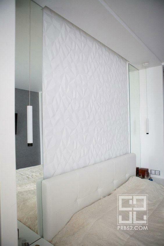 дизайн интерьера спальня с панелями фото