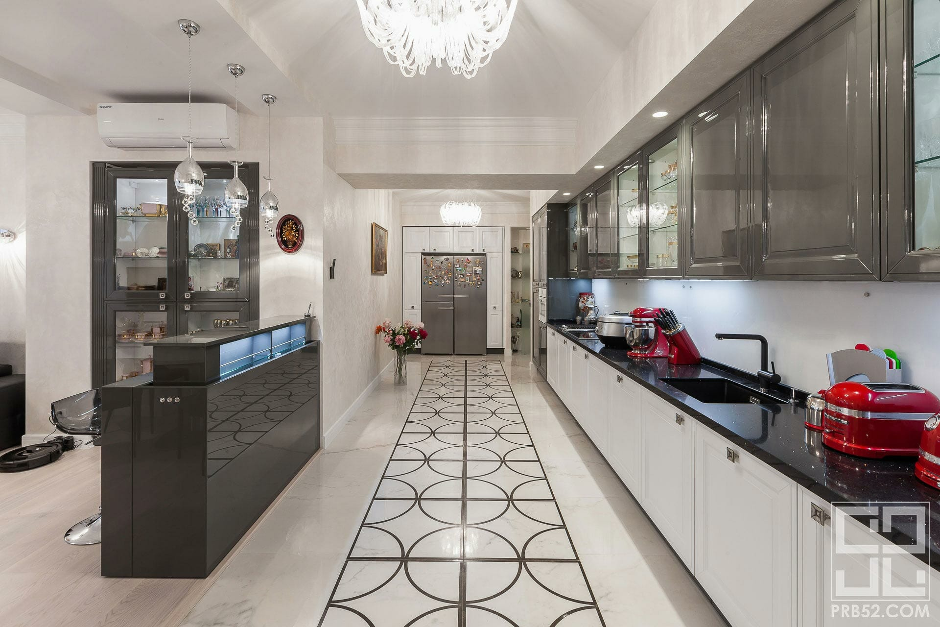 дизайн интерьера кухни с барной стойкой фото