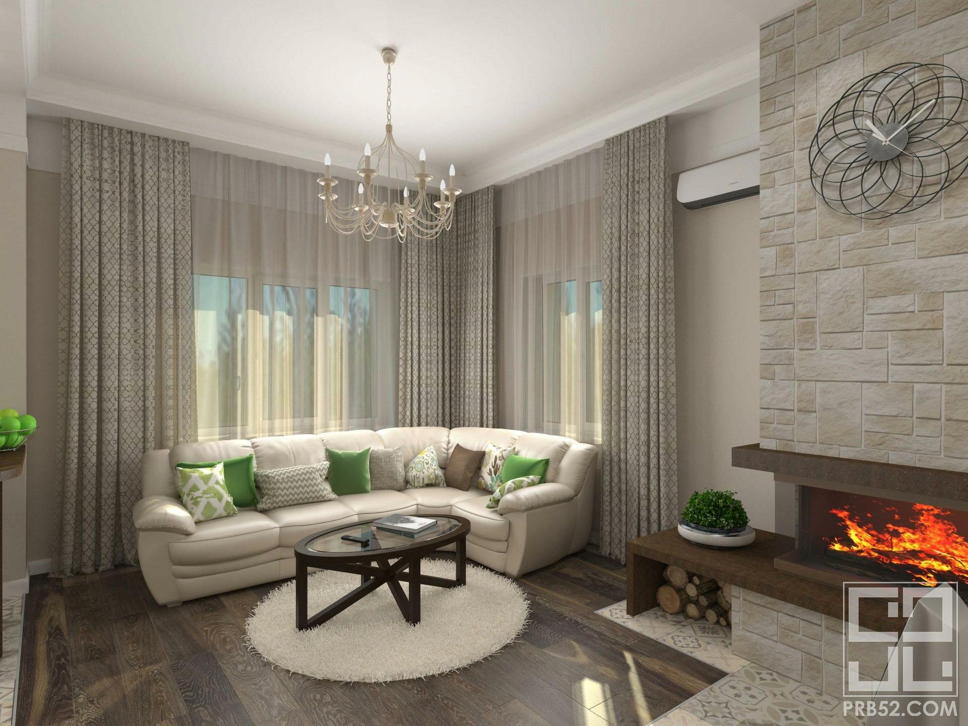 дизайн интерьера гостиной в частном доме