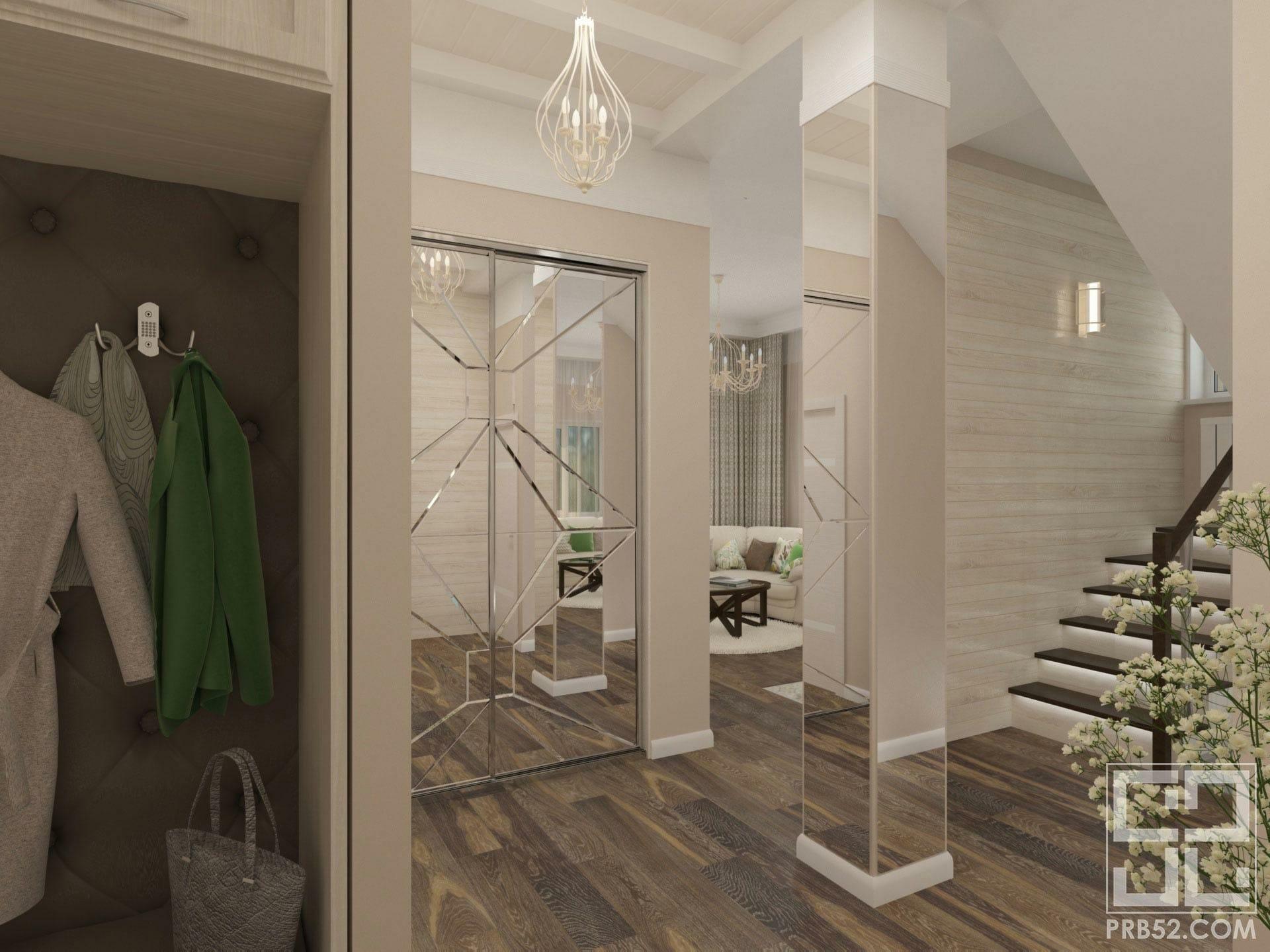 дизайн интерьера коридора в частном доме