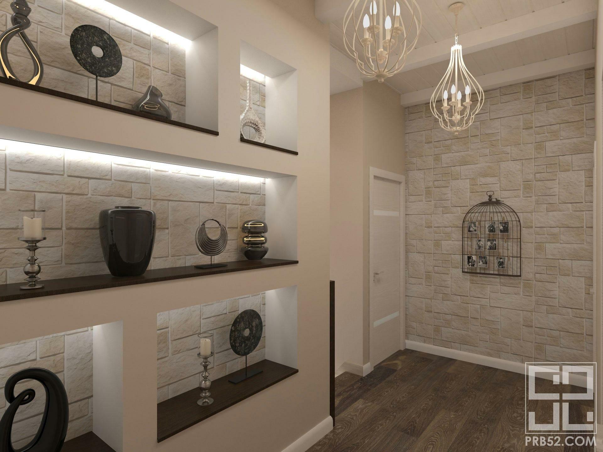 дизайн интерьера холла в частном доме