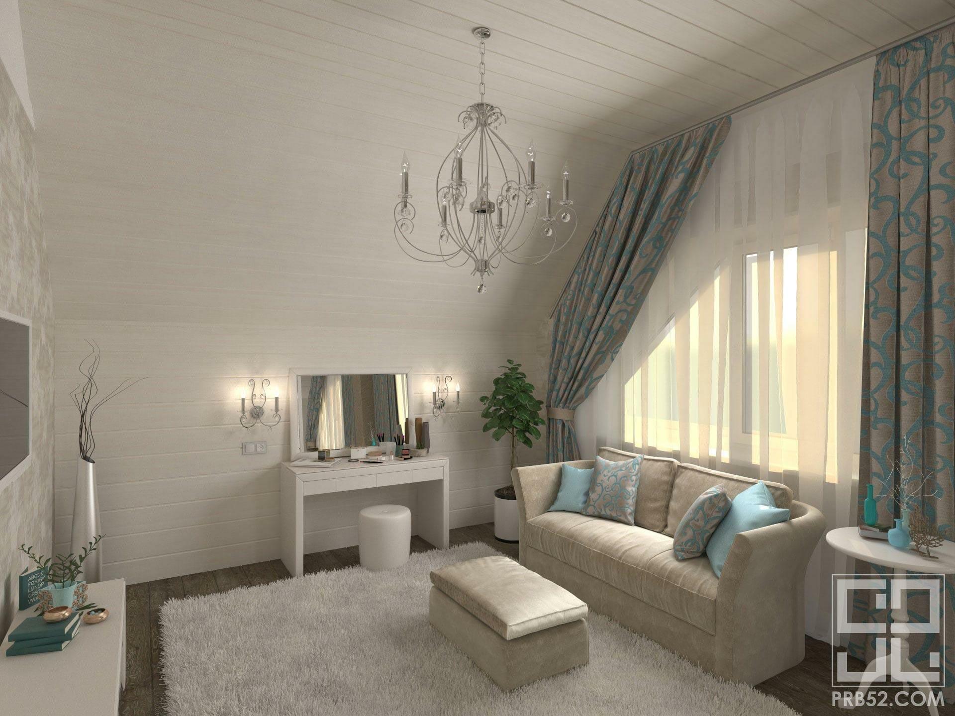дизайн интерьера спальня женский уголок