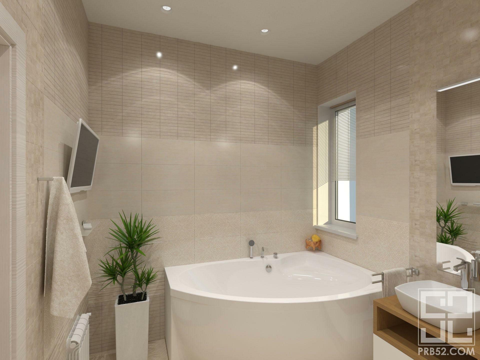дизайн интерьера большой ванной в частном доме