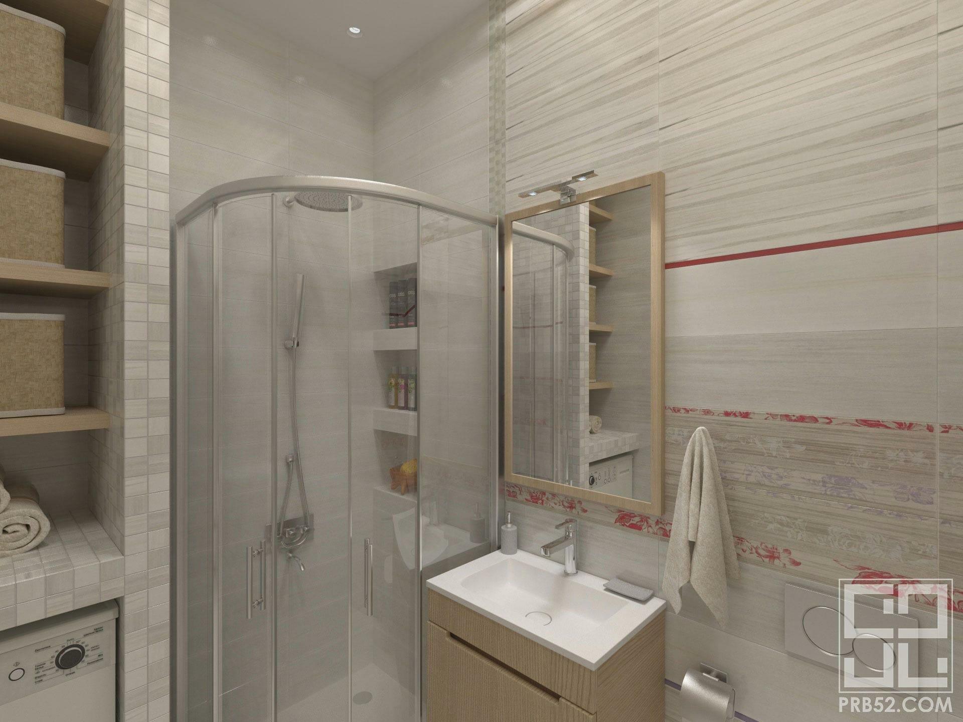 дизайн интерьера ванной с душевой в частном доме