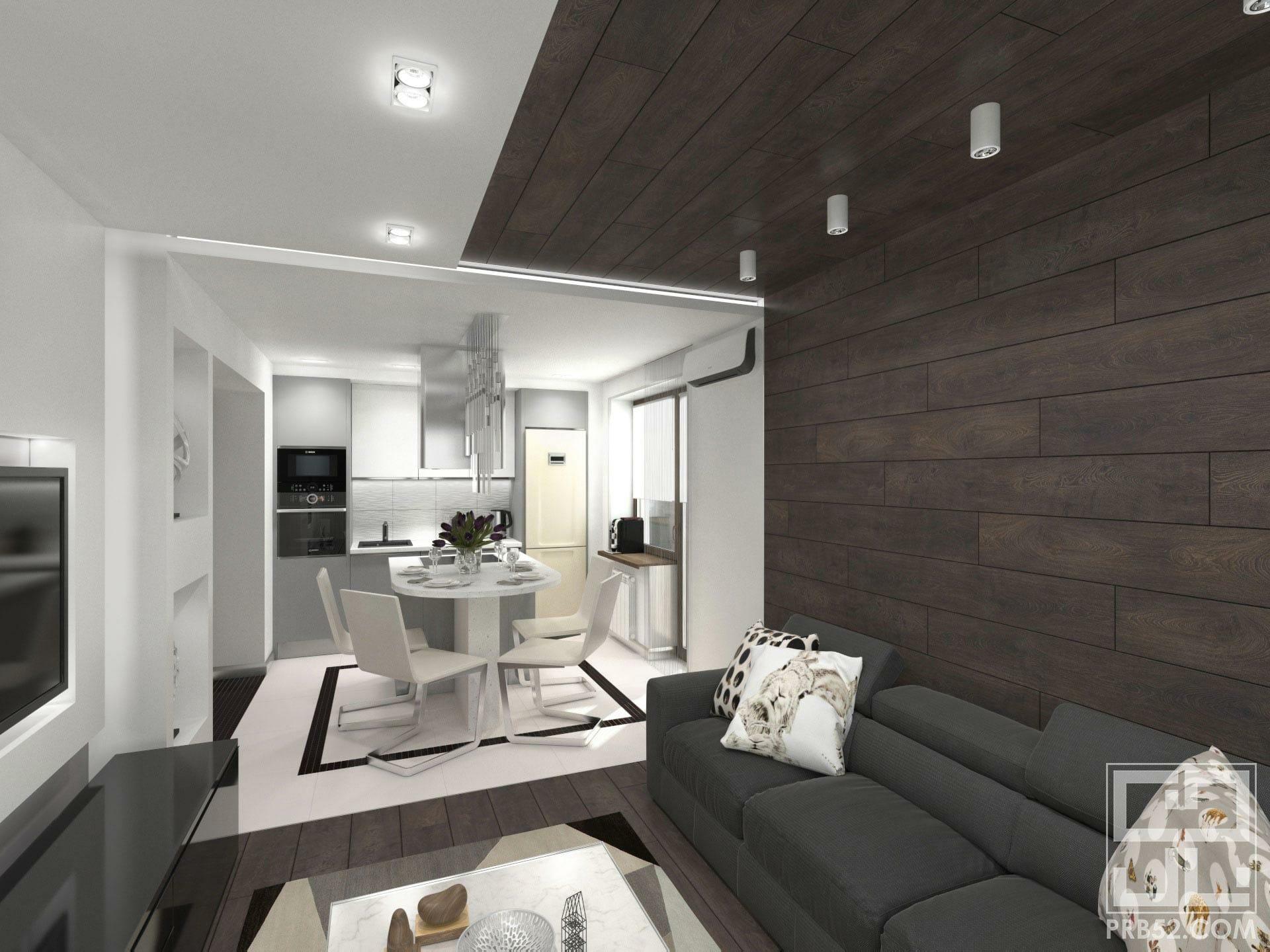 дизайн интерьера гостиной кухни с островом