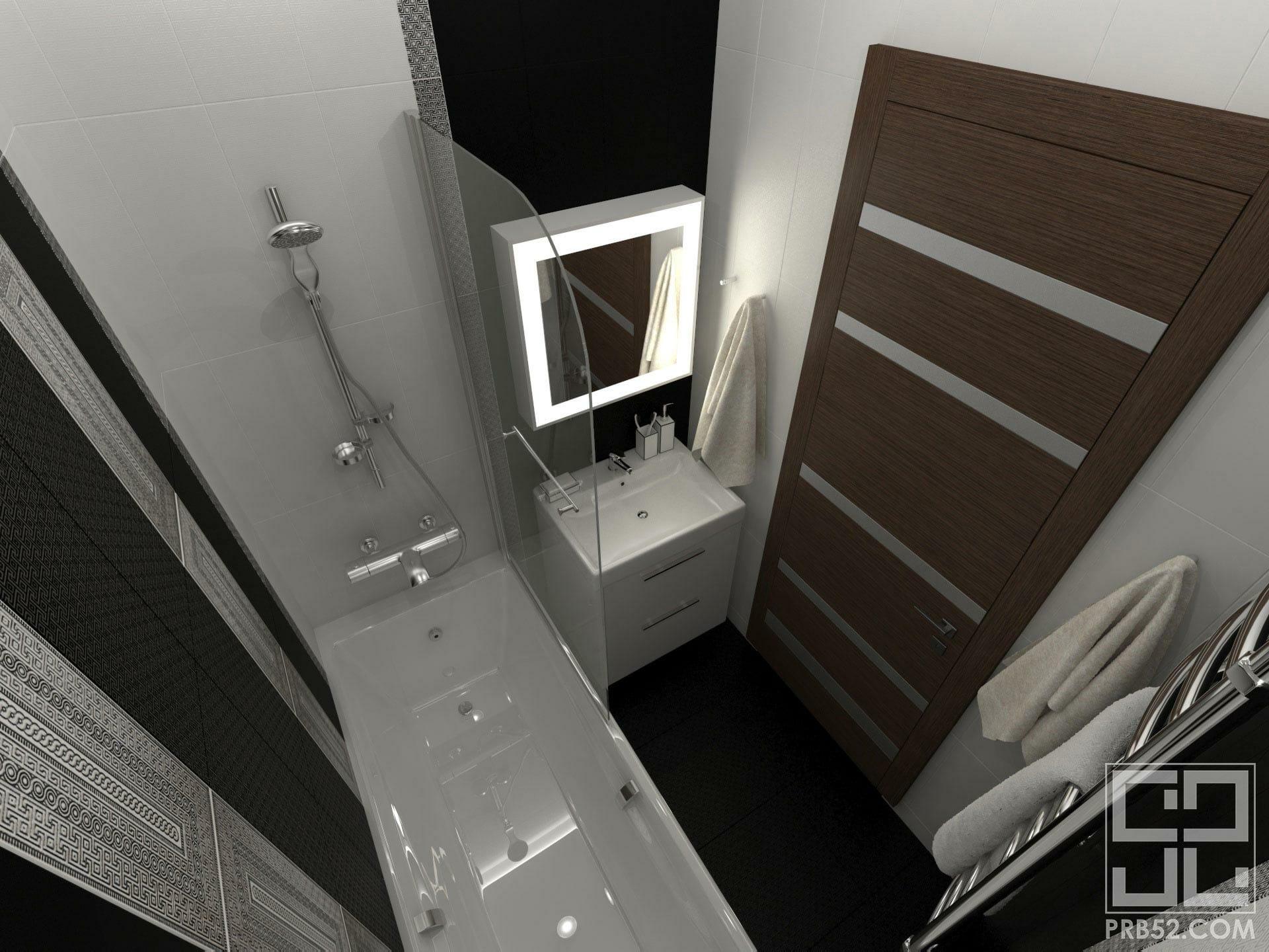 дизайн интерьера ванной зеркало с подсветкой