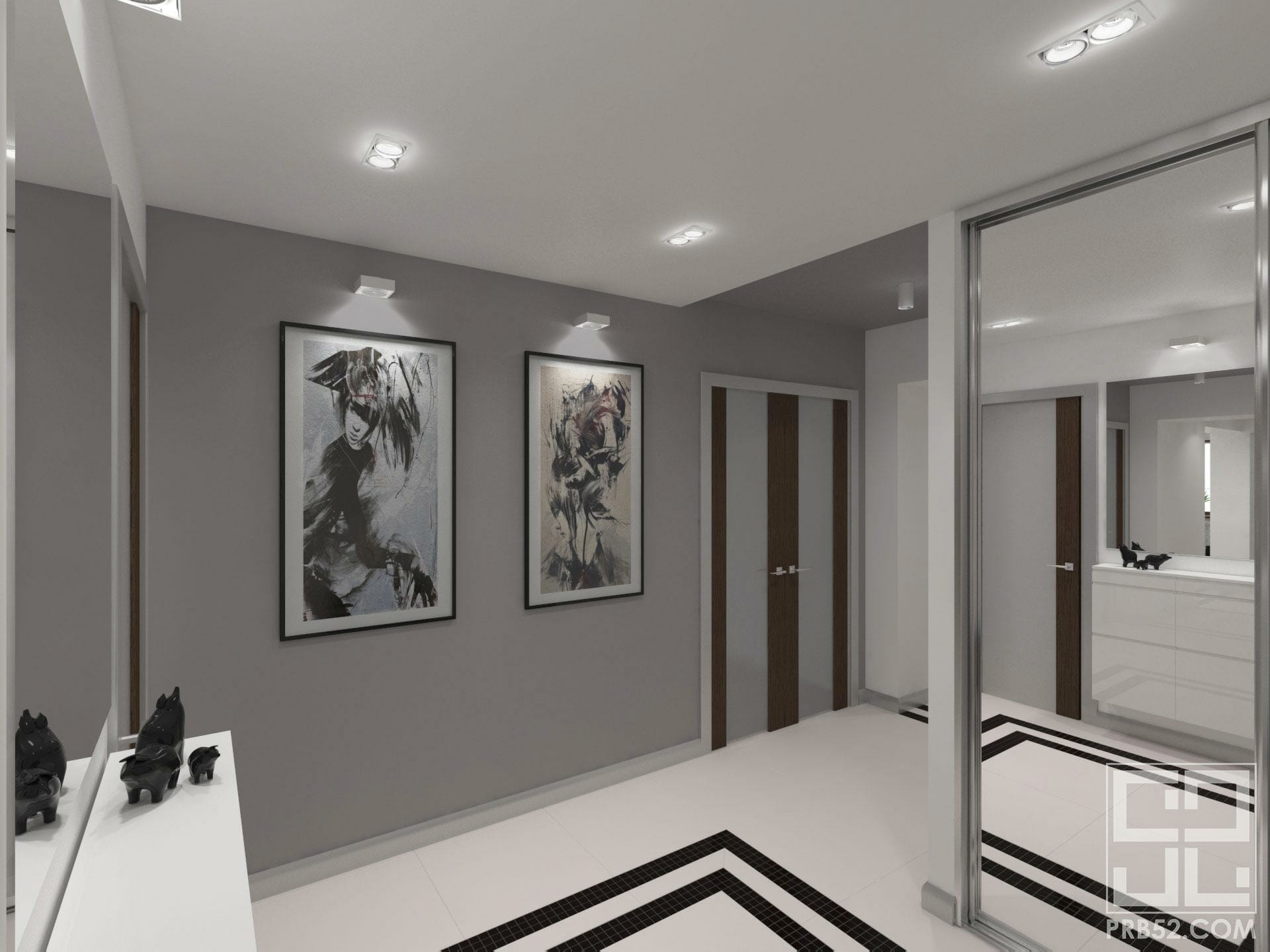 дизайн интерьера прихожей минимализм