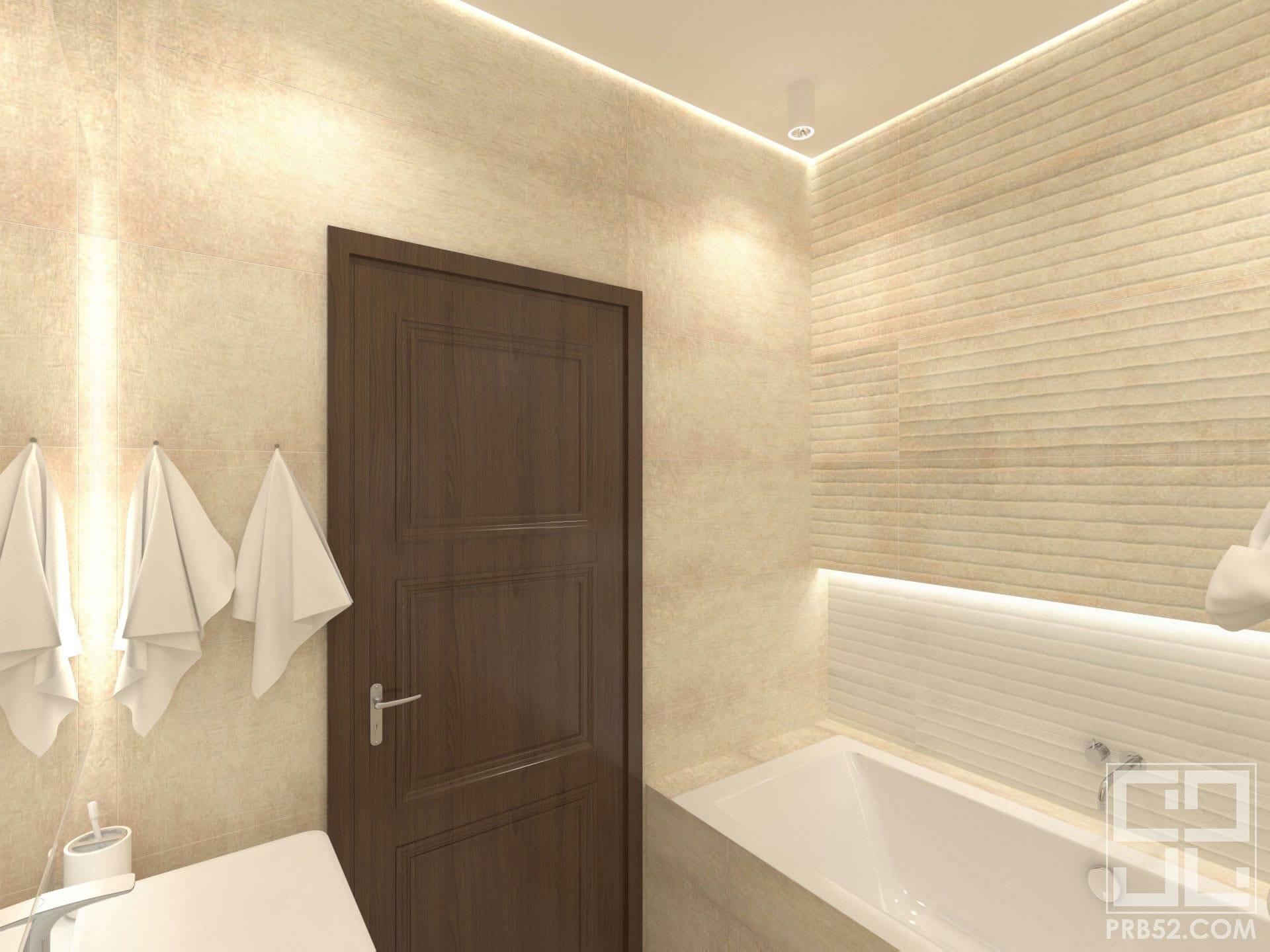 дизайн интерьера ванной комнаты с подсветкой