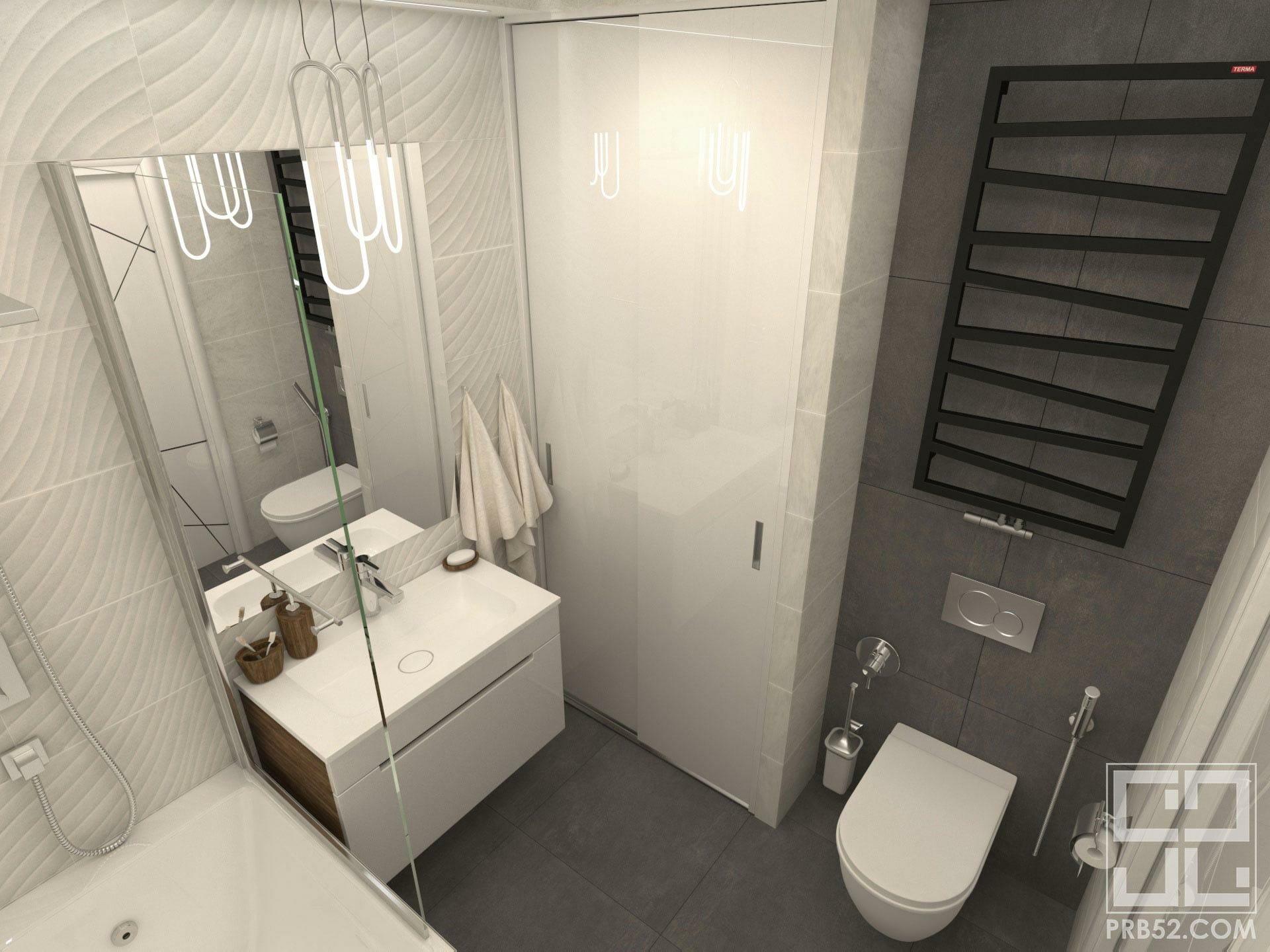 дизайн интерьера ванной комнаты в современном стили идеи