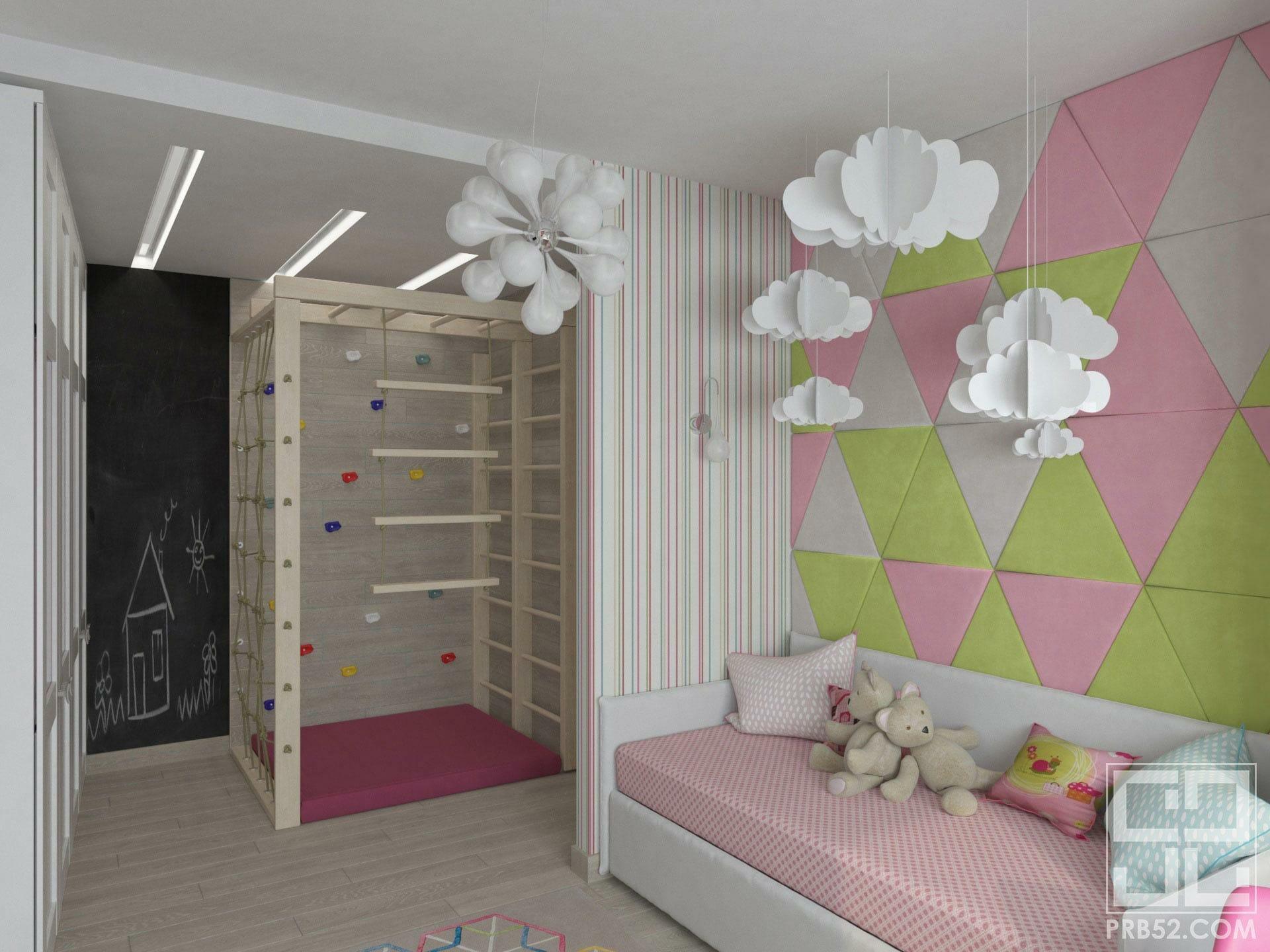 дизайн интерьера детской комнаты идеи