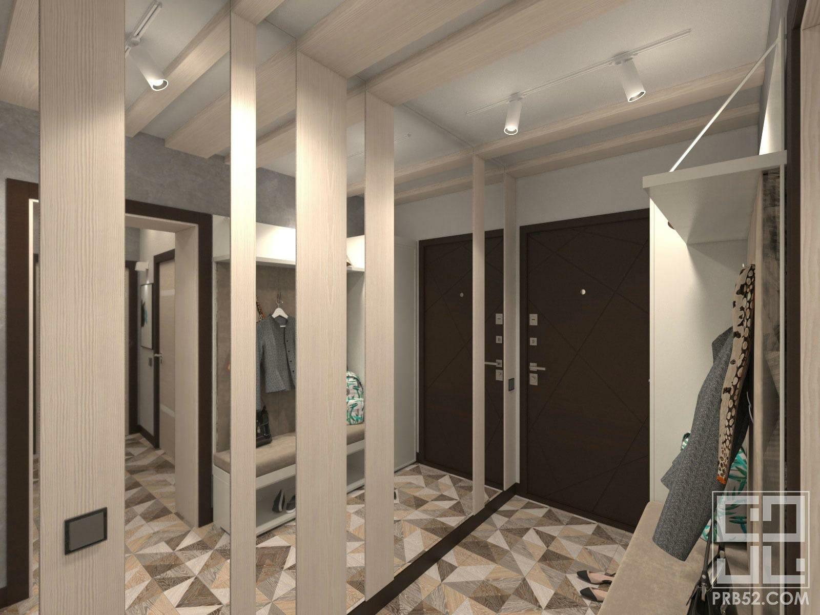 дизайн интерьера длинной прихожей коридора идеи