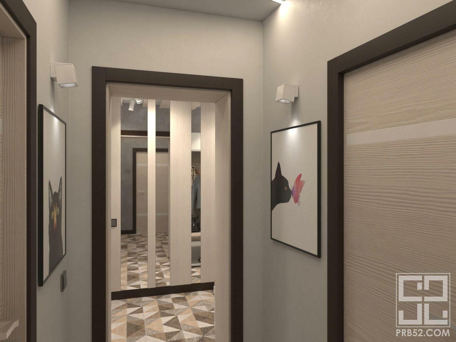 дизайн интерьера маленького холла