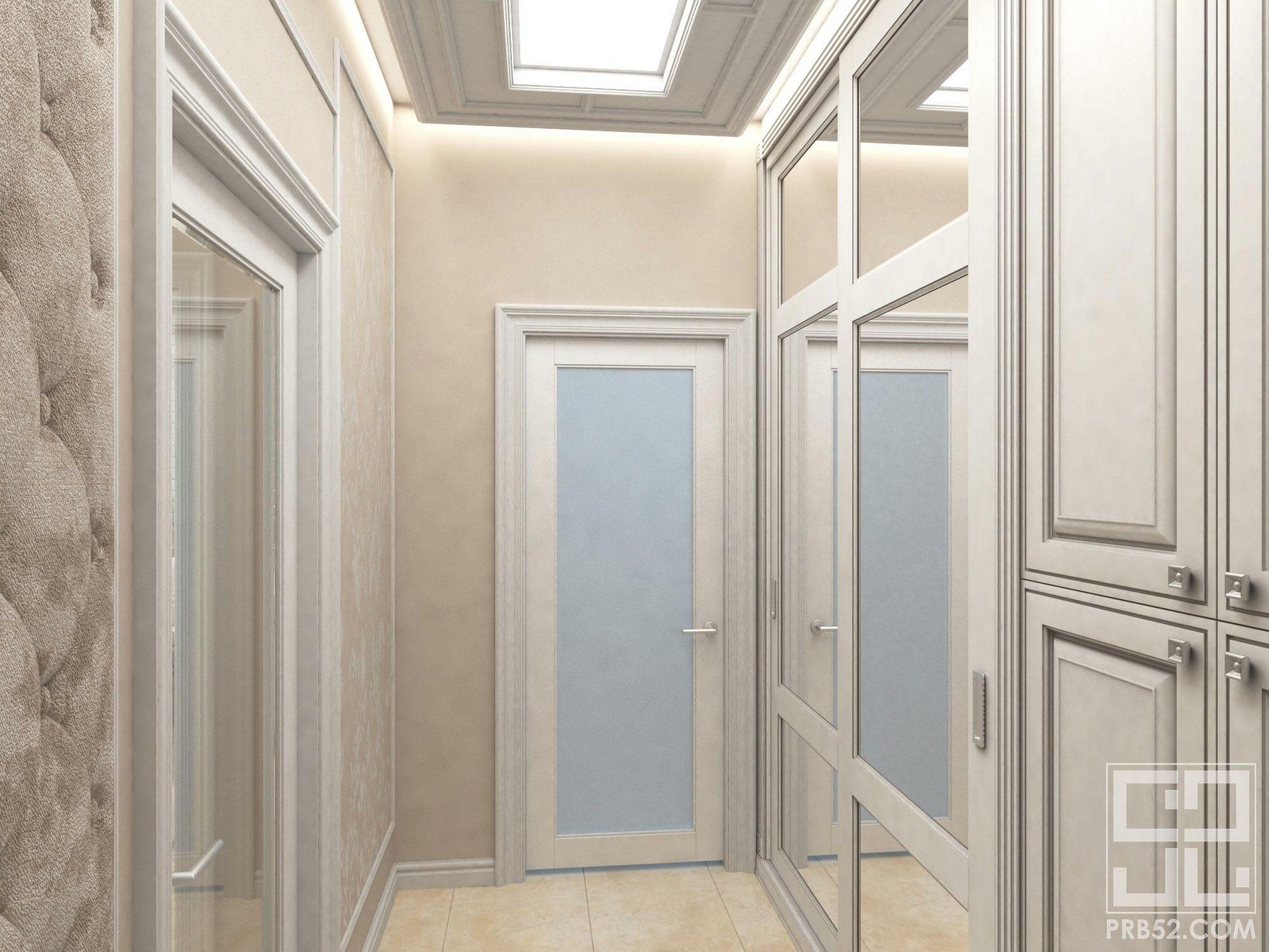 дизайн интерьера коридора в классическом стиле