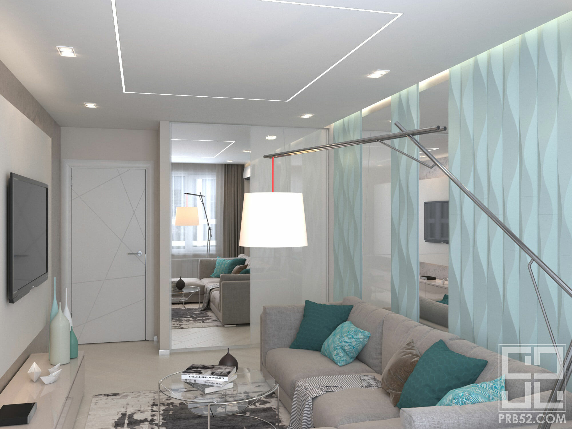 дизайн интерьера современной гостиной с панелями