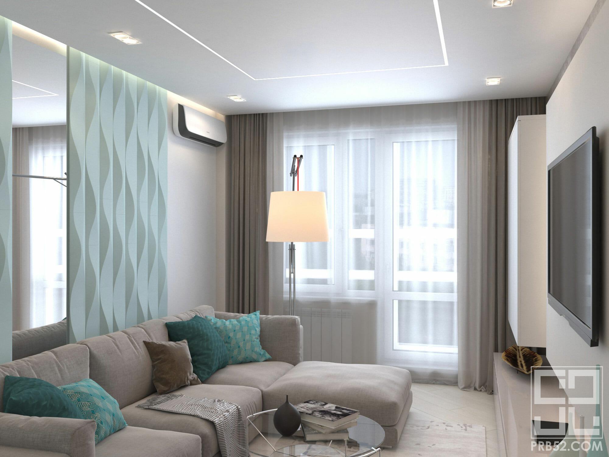 дизайн интерьера современной гостиной с 3d панелями