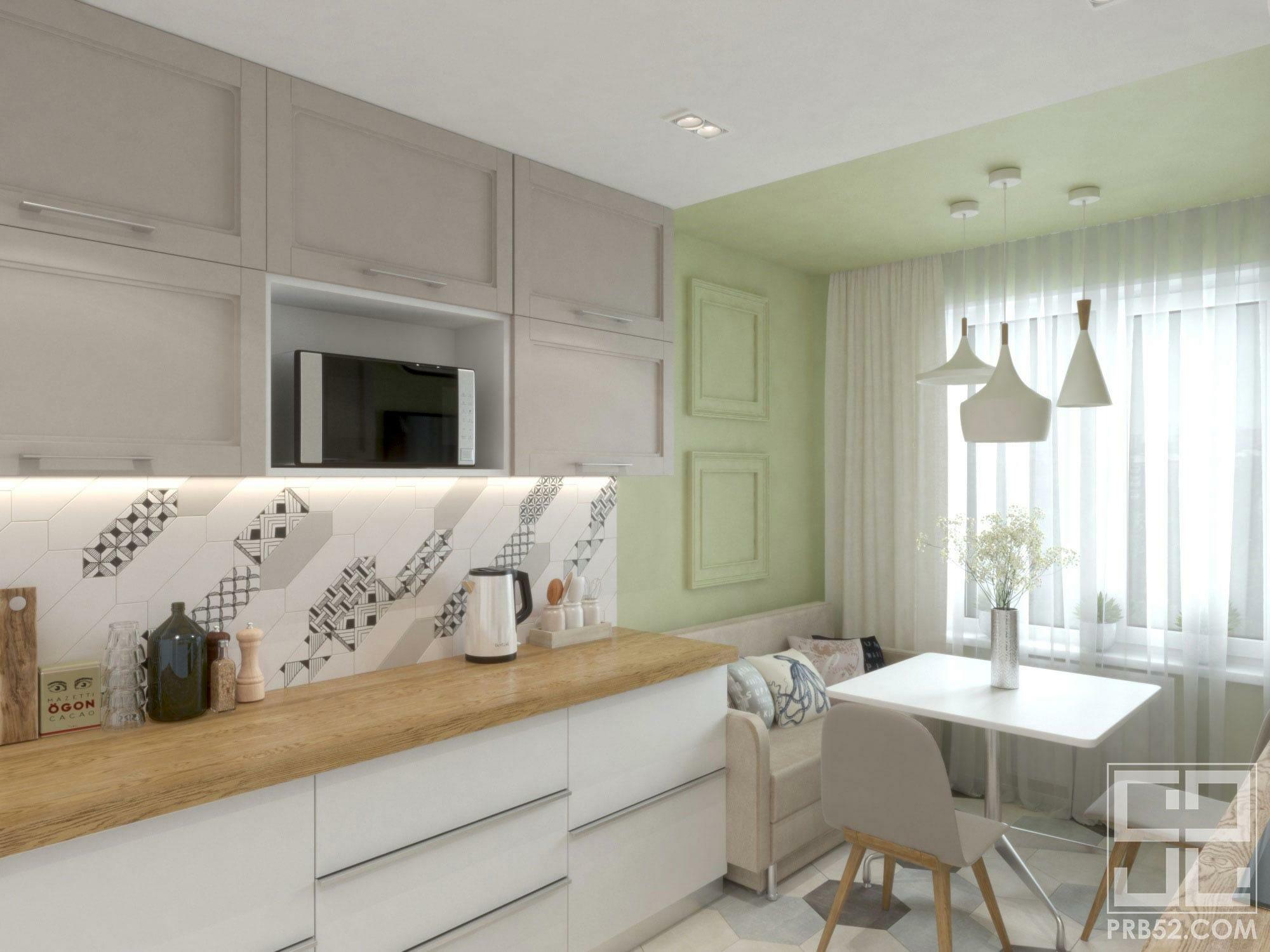 дизайн интерьера современной кухни столовой