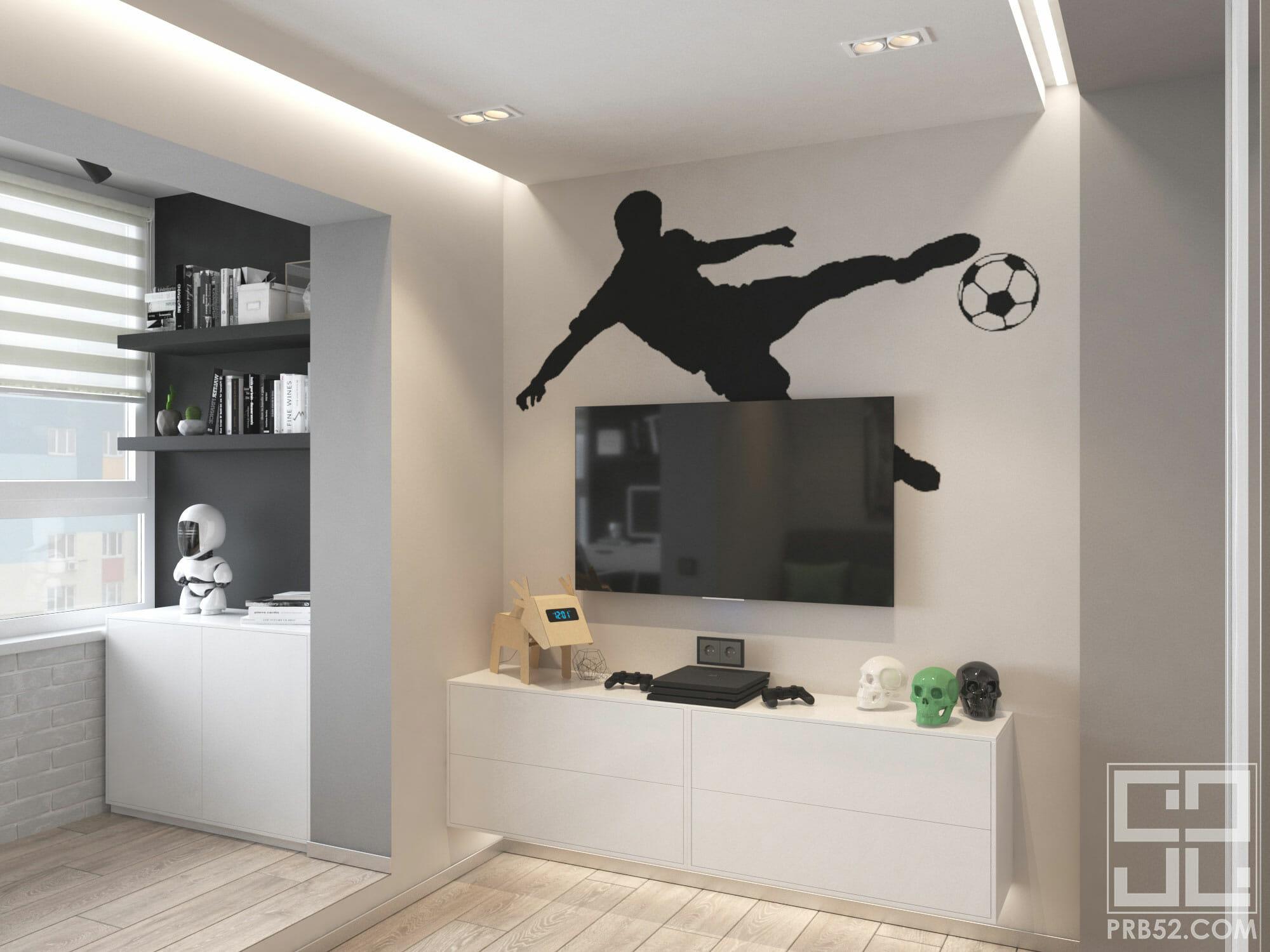 дизайн интерьера детской комнаты для мальчика