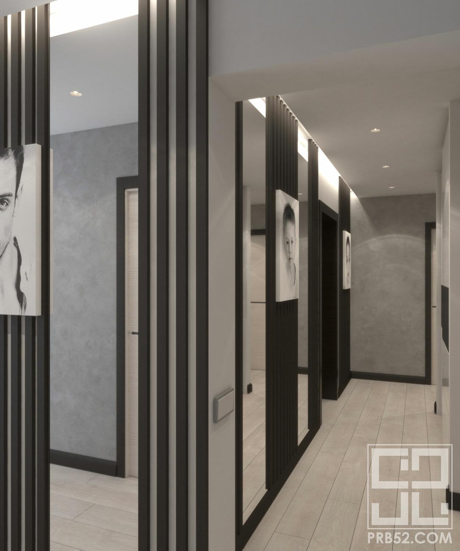 дизайн интерьера узкий длинный коридор идеи