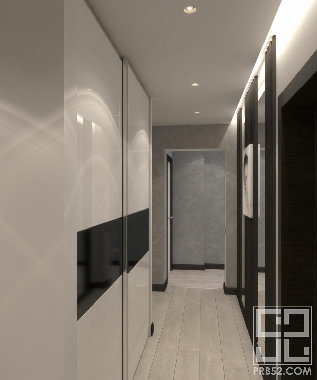 дизайн интерьера узкого длинного коридора идеи решение