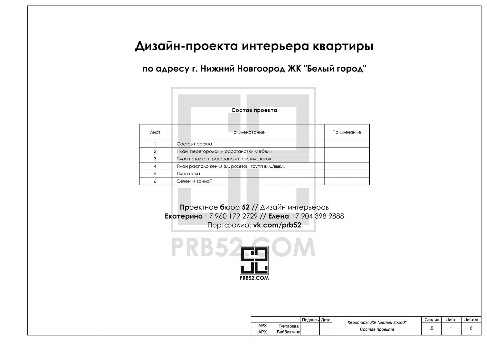 дизайн интерьера планы состав проекта