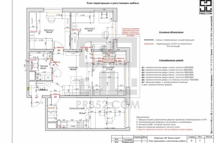 дизайн интерьера планы перегородок и расстановки мебели