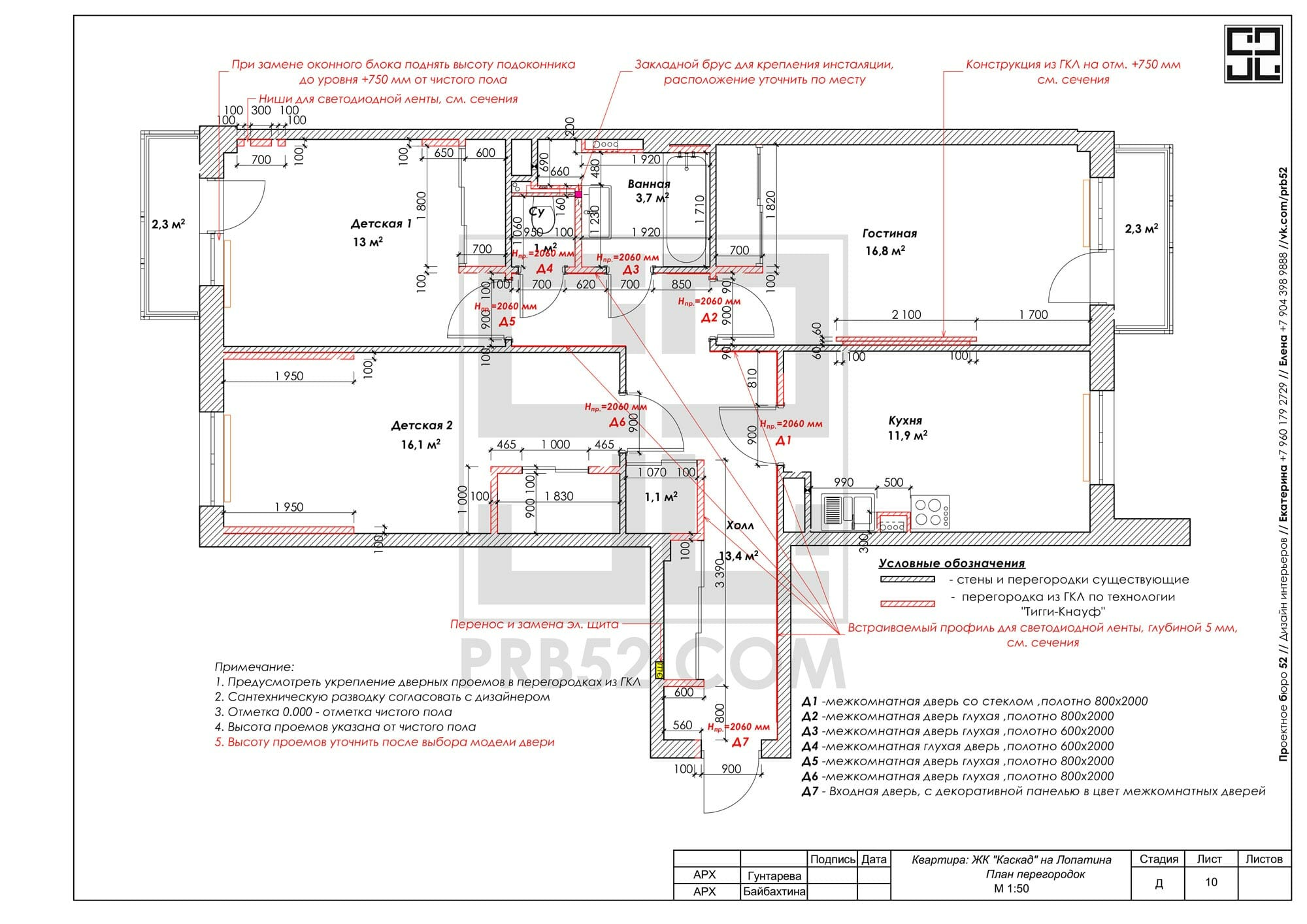 дизайн интерьера планы перегородок стен монтажа и демонтажа