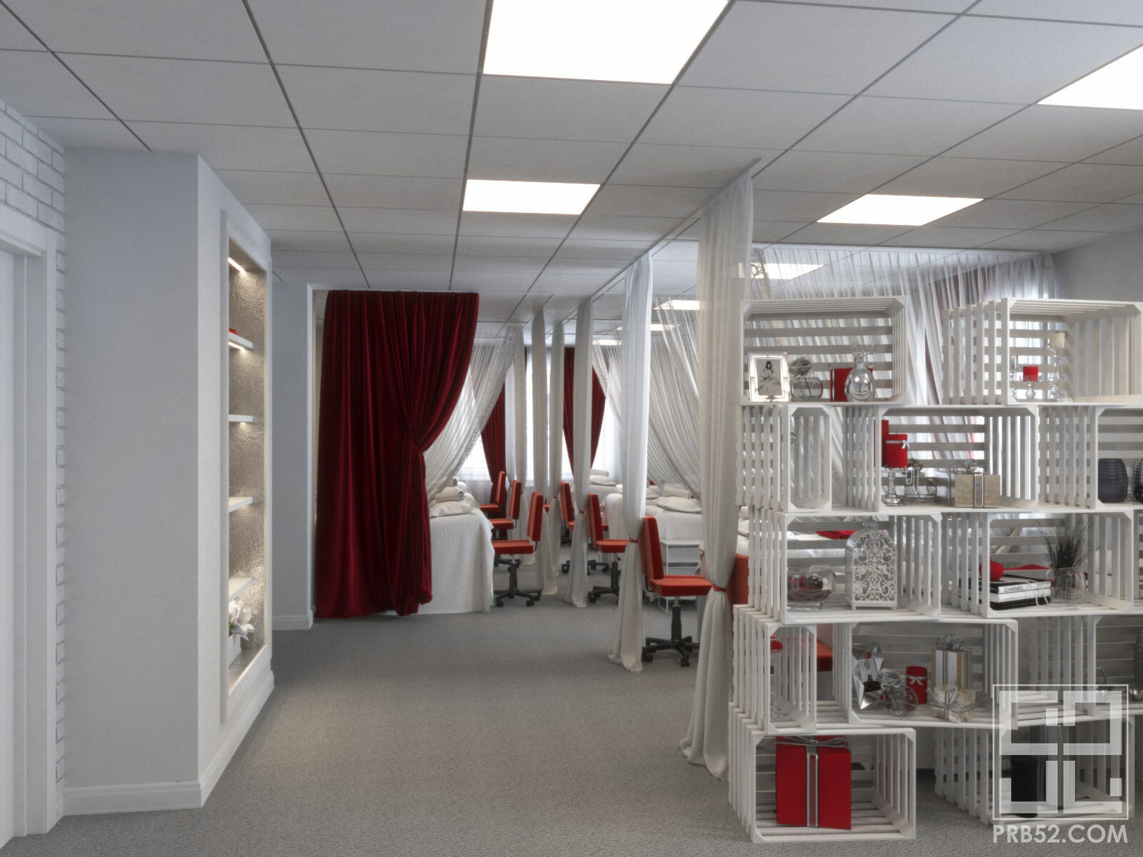 дизайн салона красоты главный зал
